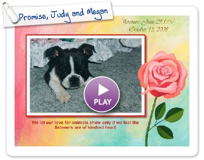 Click to play this Smilebox slideshow: A Love Story , Promise, Judy and Megan