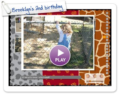 Click to play Brooklyn's 2nd birthday