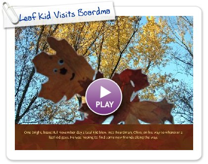 Click to play Leaf Kid Visits Boardman