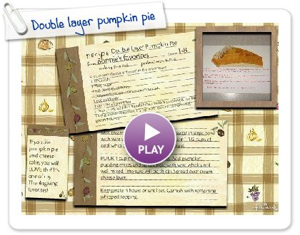 Click to play Double layer pumpkin pie