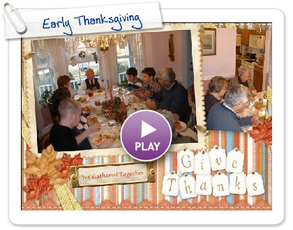 Click to play Early Thanksgiving