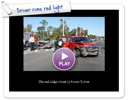 Click to play Driver runs red light