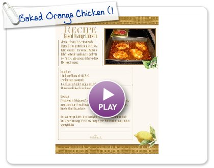 Click to play Baked Orange Chicken