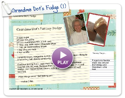 Click to play Grandma Dot's Fudge