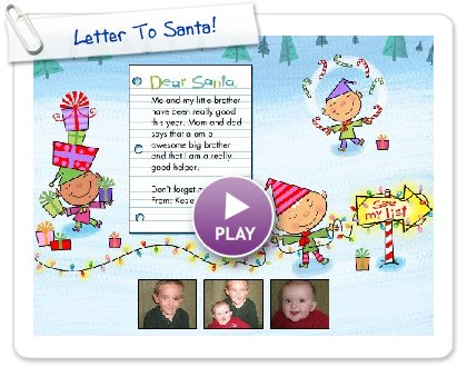 Click to play Letter To Santa!