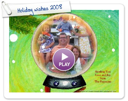 Click to play Holiday wishes 2008