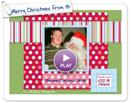 Click to play Merry Christmas from the Hansens