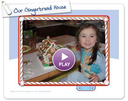 Click to play Our Gingerbread House