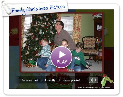 Click to play Family Christmas Picture
