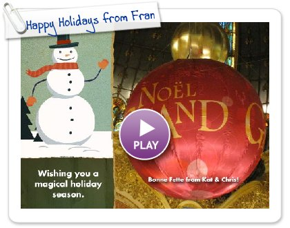 Click to play Happy Holidays from France