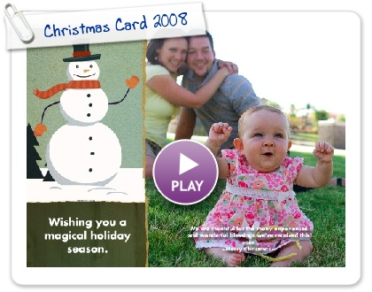 Click to play Christmas Card 2008