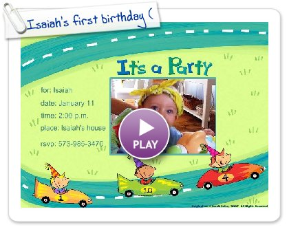 Click to play Isaiah's first birthday