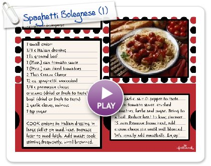 Click to play Spaghetti Bolegnese