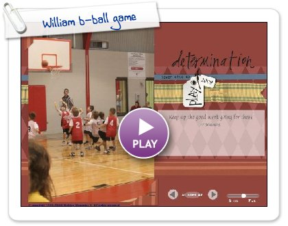 Click to play William b-ball game