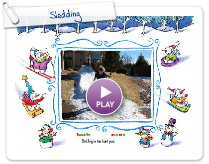 Click to play Sledding