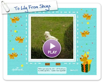 Click to play To Lily From Shugs