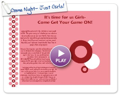 Click to play Game Night- Just Girls!