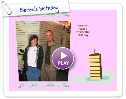 Click to play Barbie's birthday