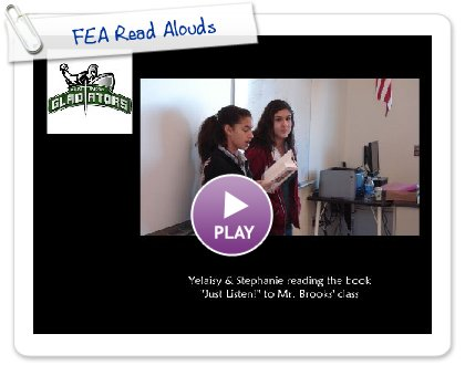 Click to play FEA Read Alouds