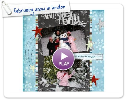 Click to play february snow in london