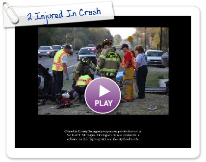 Click to play this Smilebox slideshow: 2 Injured In Crash