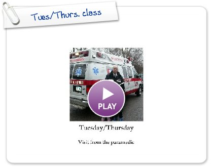 Click to play this Smilebox photobook: Tues/Thurs. class