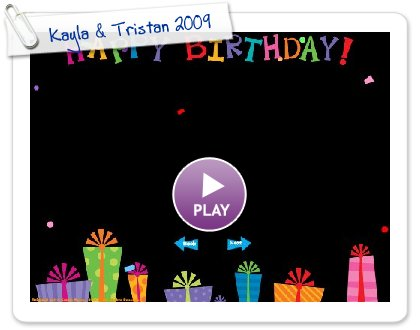 Click to play this Smilebox slideshow: Kayla & Tristan 2009