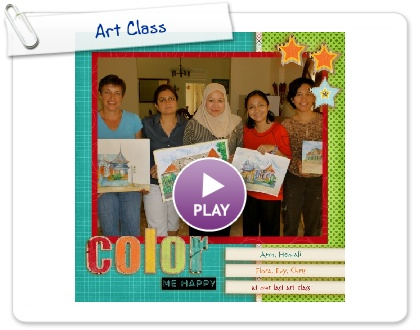 Click to play this Smilebox scrapbook: Art Class