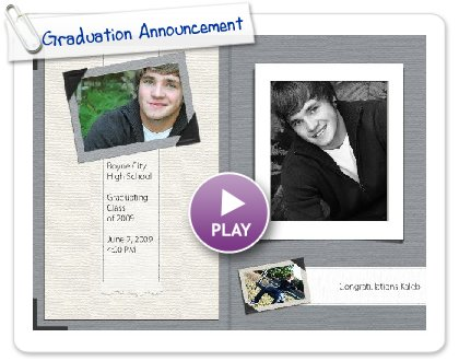 Click to play this Smilebox photobook: Graduation Announcement