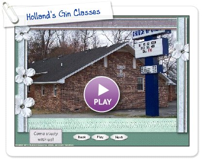 Click to play this Smilebox slideshow: Holland's Gin Classes