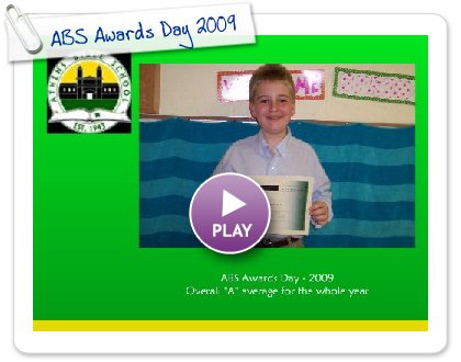 Click to play this Smilebox slideshow: ABS Awards Day 2009