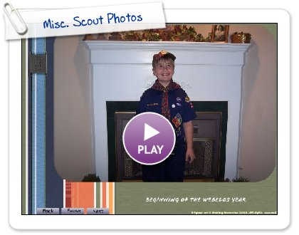 Click to play this Smilebox slideshow: Misc. Scout Photos