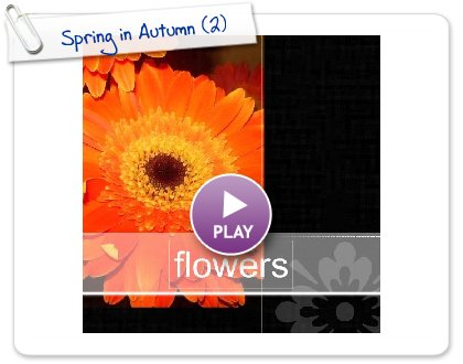 Click to play this Smilebox photobook: Spring in Autumn