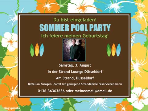sommer party - einladung - smilebox, Einladungen