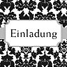 Damast Einladung - German Invite