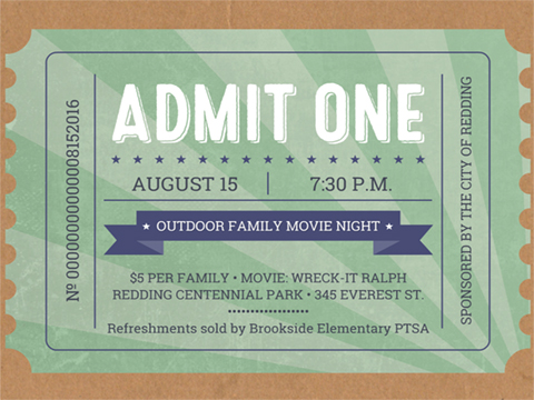 Movie Ticket Flyer - Flyer - Smilebox